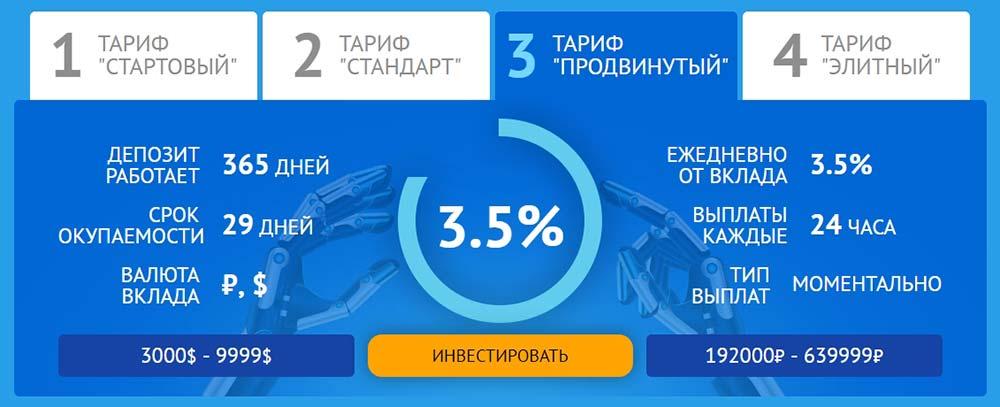 Инвестиционные планы Alpha Intelect 3