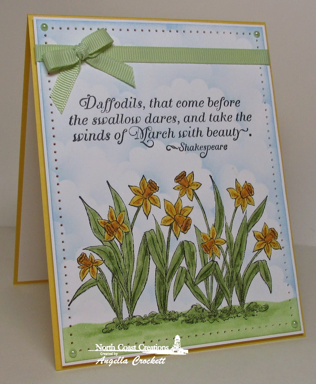North Coast Creations Daffodils, Card Designer Angie Crockett