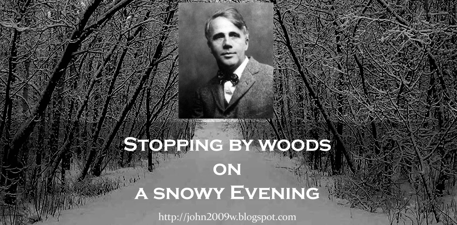 "commentary of the poem stopping by His poem ""the road not  robert frost recites 'stopping by woods on a snowy evening  to support open culture's continued operation,."
