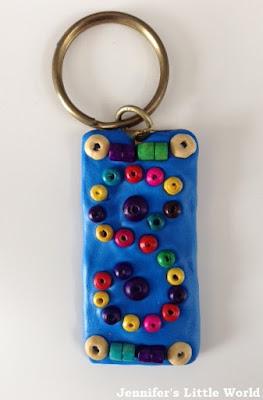 Keyring upcycle with beads and Sugru