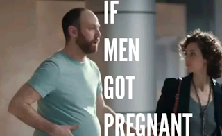 pregnant white man with a lady