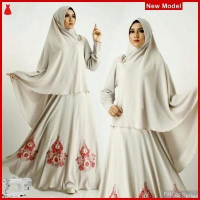 FHGS9036 Model Syari Zahara Putih, Wolly Gamis Perempuan Crepe BMG