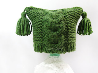 pattern green baby newborn hat