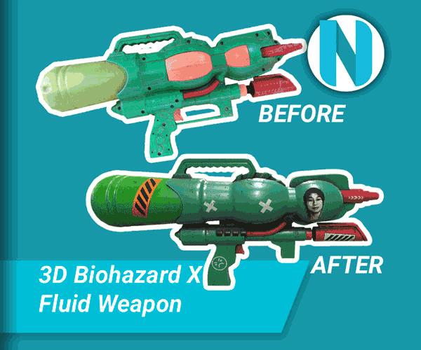 Biohazard X Fluid Weapon - Turnable nandur93