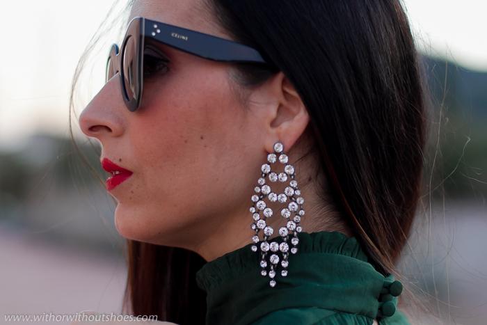 idea para llevar con estilo tendencia pendientes largos cristal brillantes