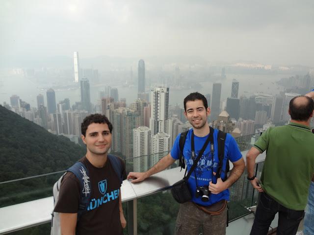 Vistas desde el pico Victoria en Hong Kong