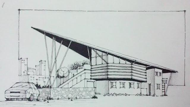 diễn họa kiến trúc, kí họa phong cảnh