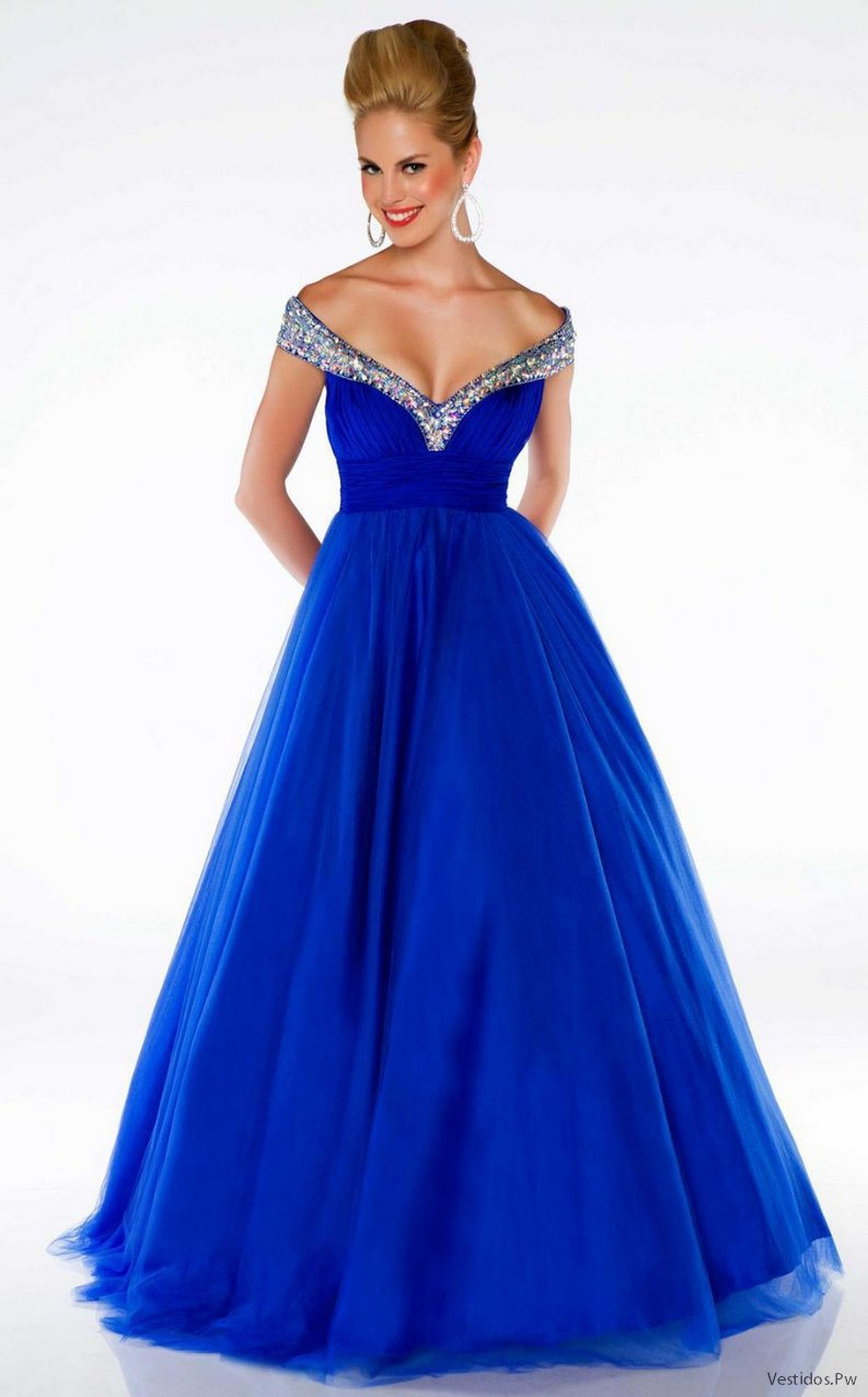 Vestidos azules 2019