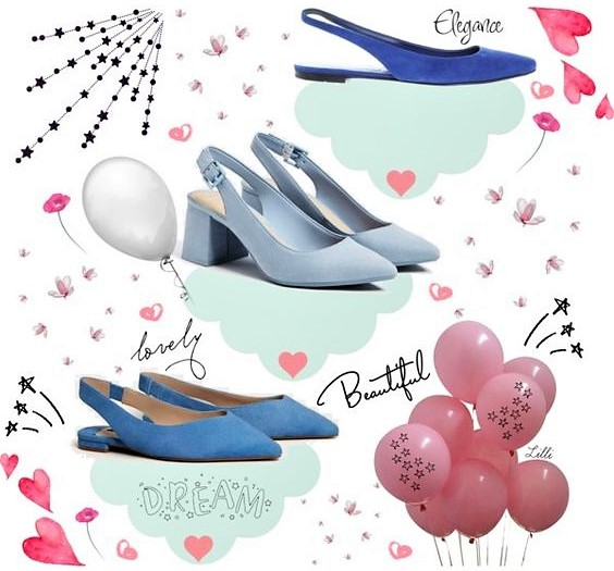 Blue Slingback Shoes | Candy and Style
