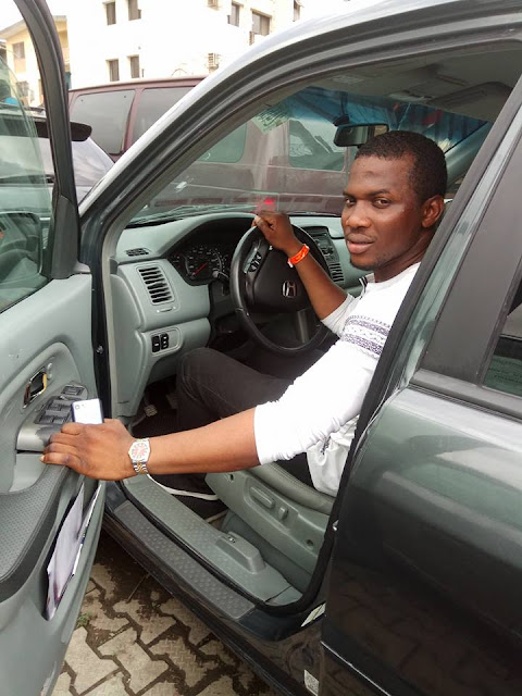 """Buying A Car Is Not My Problem"" - Internet Marketer Adesanya Sunday Abiodun Finally Acquires Honda SUV"