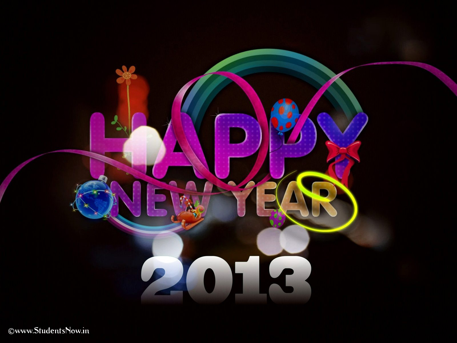 New Year  2013 Greetings  2013 New Year Wallpapers HD