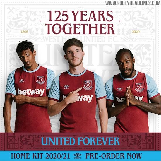 West Ham 20-21 Home Kit Revealed - 125th Anniversary ...