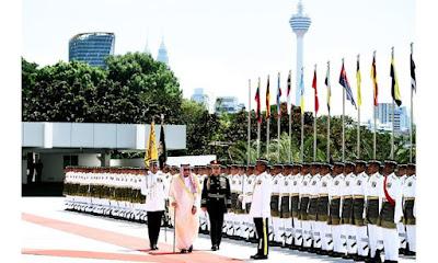Gambar Menarik Sambutan Ketibaan Raja Arab Saudi