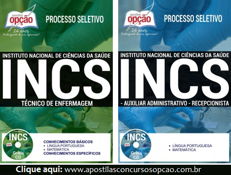 Apostila INCS de Sorocaba (SP) 2017 Técnico de Enfermagem