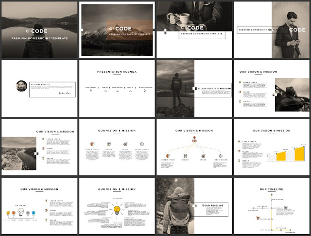 Multi Purpose Best and Free Powerpoint 4x3 Template [CODE] Slide 1-16.