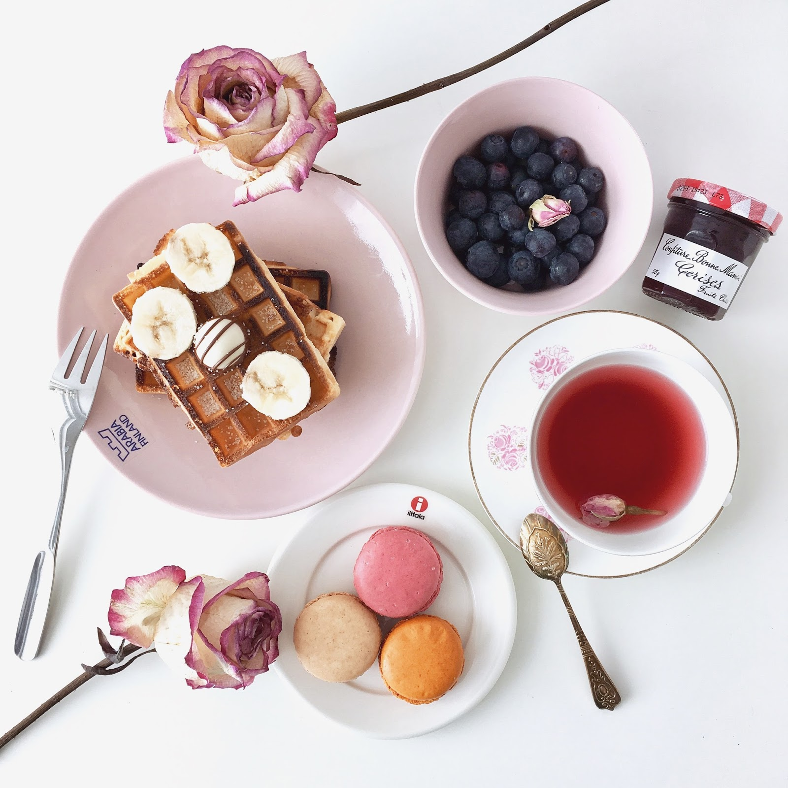 Tea Time! Deluxe Macarons, Belgian Waffle & Super Berries