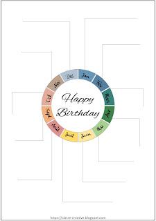 cadeau calendrier des anniversaires complet