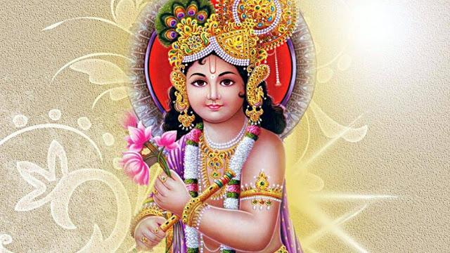 God Krishna HD Wallpaper For Desktop