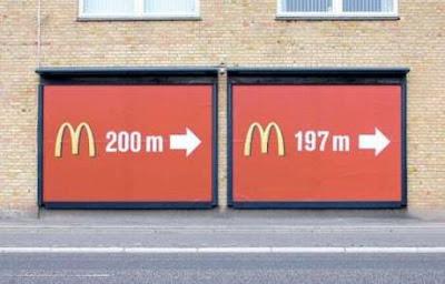 Double MacDonald's restaurant billboards