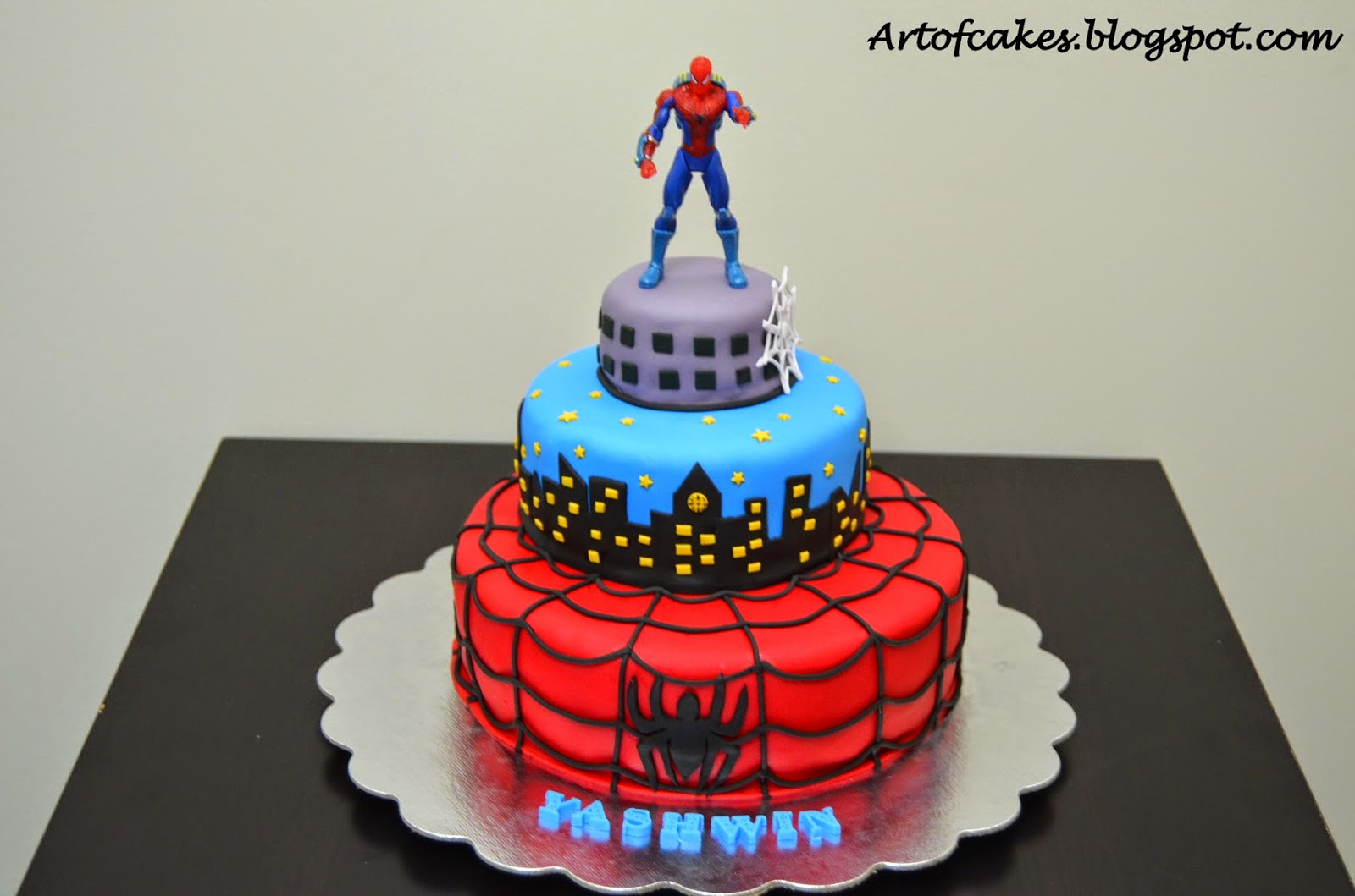 Art Of Cakes Spiderman Fondant Cake
