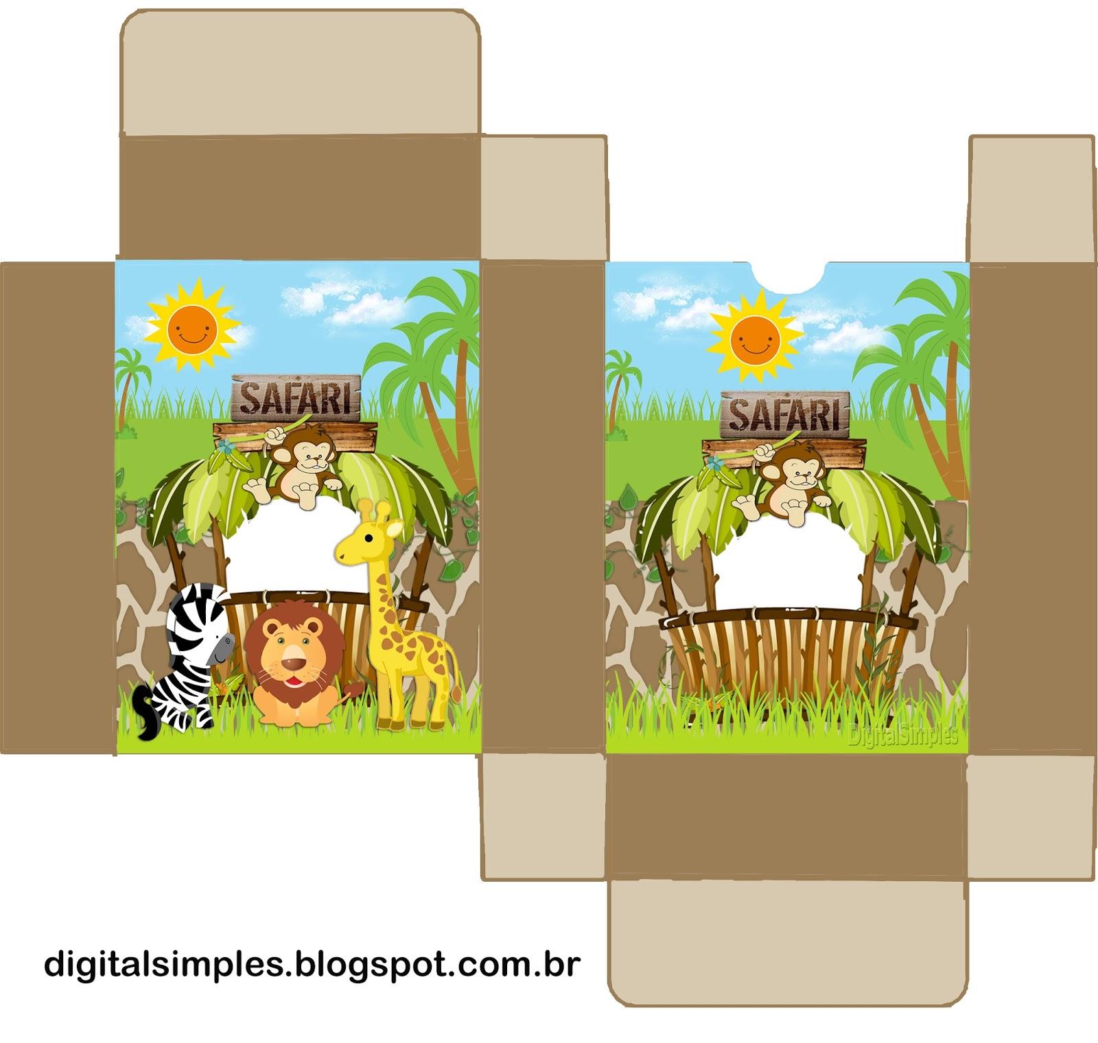 Safari Bebés Invitaciones Y Cajas Para Imprimir Gratis