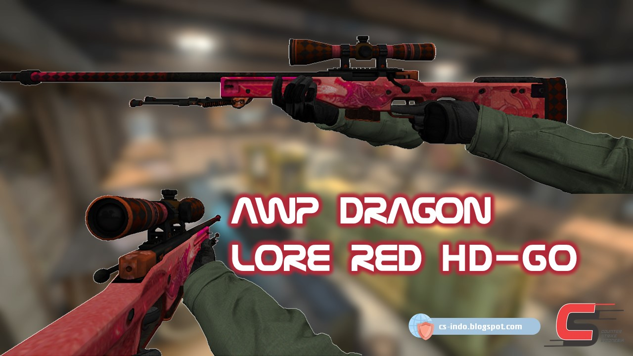 AWP DRAGON LORE RED CSGO HD For CS1 6 & CSCZ - Counter