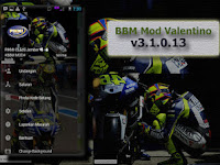 Download BBM MOD Valentino Rossi Free Sticker Change Background Terbaru v3.1.0.13 Apk