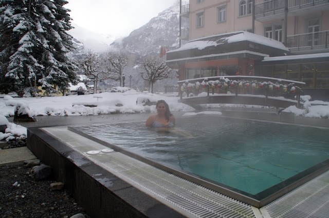 Hotel Belvedere Grindelwald Switzerland Hot Tub in Snow