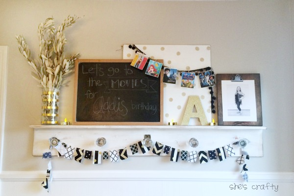 How to decorate for a movie birthday party using a movie banner
