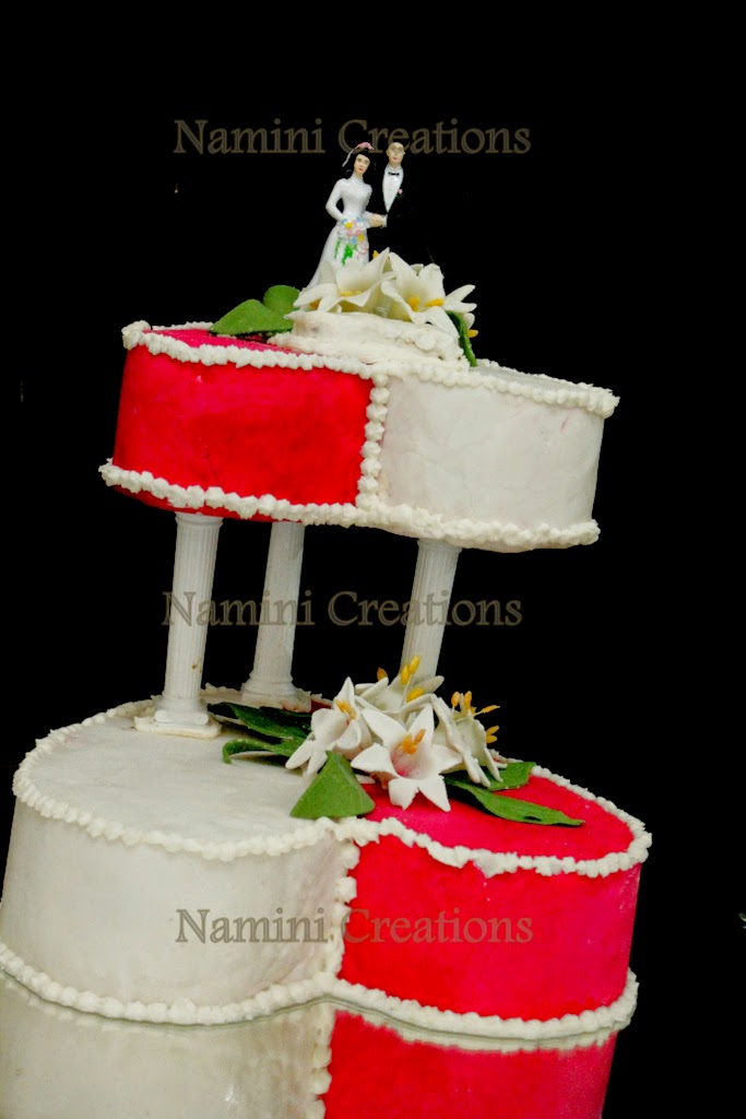 Namini Creations Cakes Double Heart Wedding Cake Structure