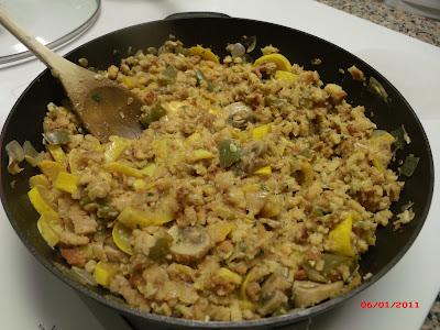 Yellow squash casserole with stuffing mix