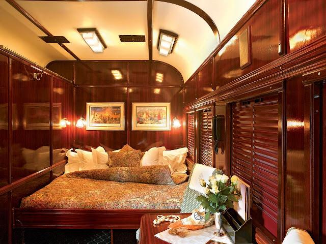 Rovos Rail Abteil mit Doppelbett
