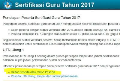 Alamat Baru Cek Peserta Sertifikasi Guru 2017