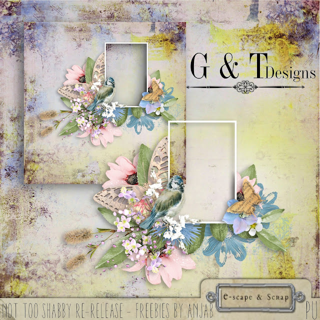 RE-RELEASE  Not too Shabby by G&T Designs (Save: 50% off for limited time) + Freebie