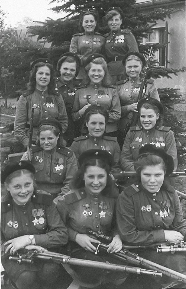 52 photos of women who changed history forever - Female snipers of the Soviet 3rd Shock Army. [May 4, 1945]