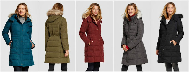 Merona Faux Fur Trimmed Puffer Coat for only $36 (reg $60)