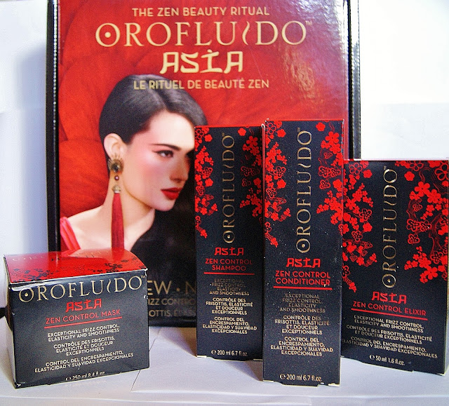 Orofluido Asia Zen Control Shampoo, Conditioner, Mask, Elixir Haircare, Beauty, Review, Revlon, Toronto, Ontario, Canada, The Purple Scarf, MelaniePs