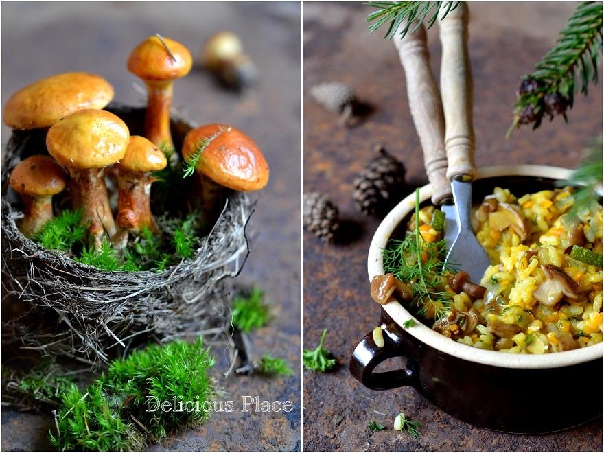 Risotto z dynią i grzybami