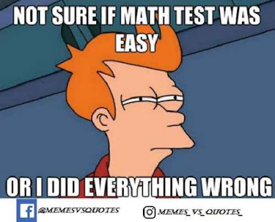 Math test was easy