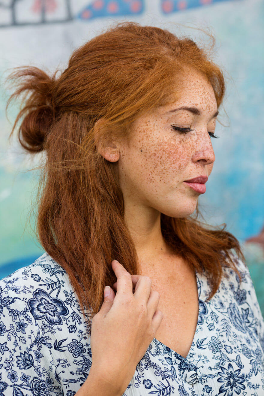 30 Stunning Pictures From All Over The World That Prove The Unique Beauty Of Redheads - Natasha's Freckles From London, Uk