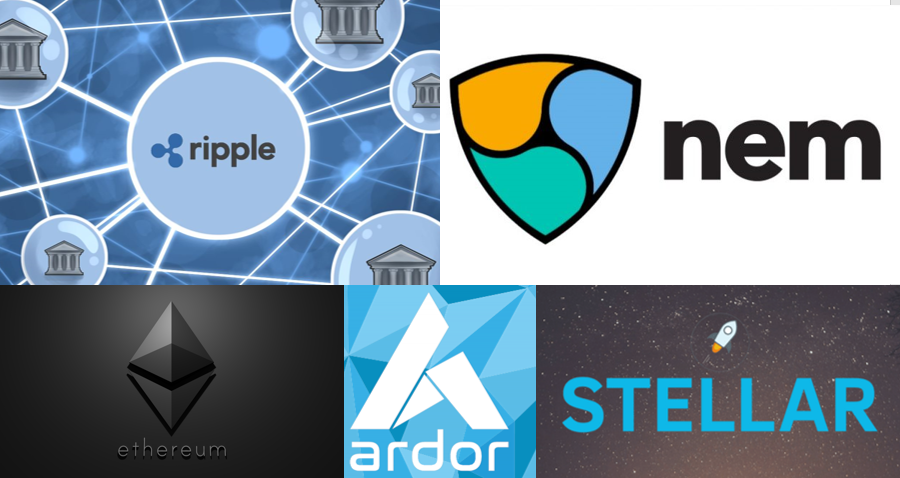 5 criptomonedas - ripple-etherum-ardor