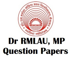 Dr RML Avadh University Exam Question Paper