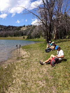Lounging at Cameron Lake, Southern Madison Range, MT