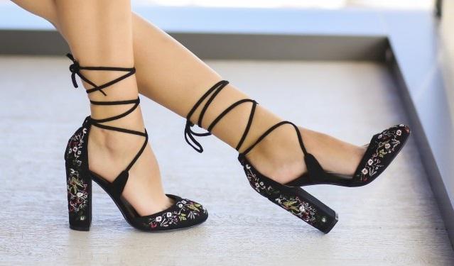 Sandale cu toc gros elegante la moda ieftine