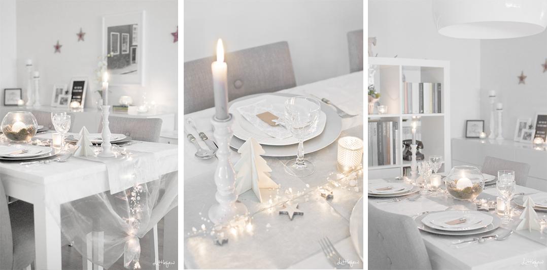 como decorar mesa para cena de fin de año estilo minimalista blanco