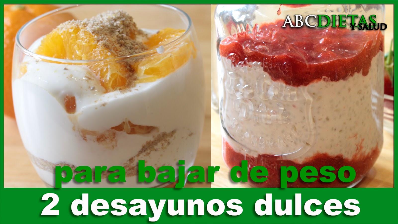 Desayunos faciles y rapidos para bajar de peso