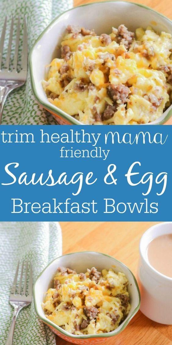 Keto Sausage & Egg Breakfast Bowls