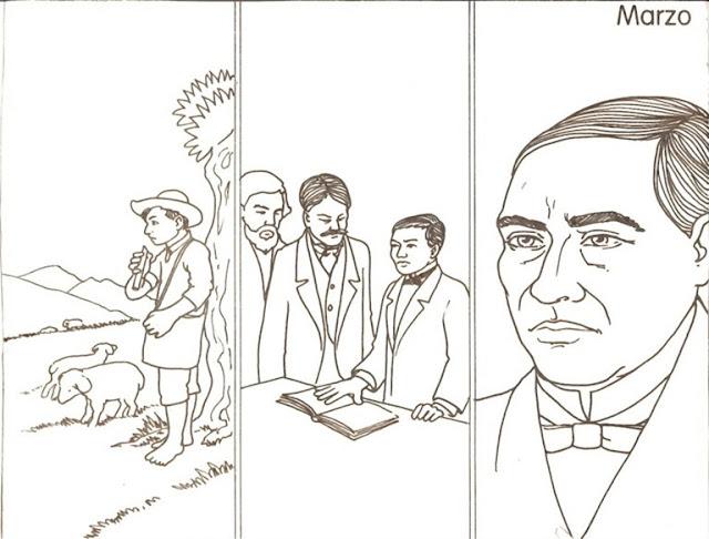 colorear dibujos de Benito Juárez