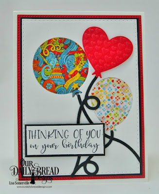 Our Daily Bread Designs Stamp Set: Celebrating You, Paper Collections: Birthday Bash, Dies: Pierced Rectangles, Double Stitched Rectangles, Birthday Balloons