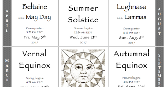 The DRUIDS ALMANAC for 2017